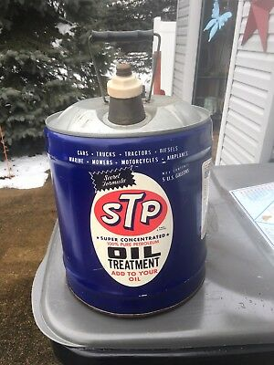 Rare 5 Gallon Oil Can STP
