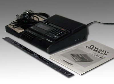 Panasonic Model RR-830 Standard Cassette Transcriber with Foot Controller