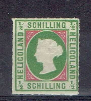 Germany Heligoland, British Terr. Period, MLH 1/2 Sch. Embossed Stamp, Lot No. 2