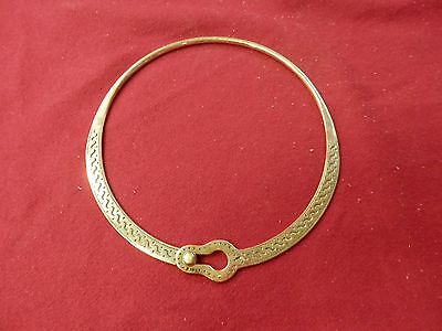 Late Roman or Byzantine Locking Brass decorated Torc or Torque Celt Gaul