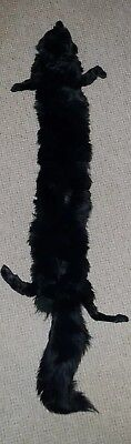 Luxury Super Quality black Fox Fur Collar Stole Pelt Large with brooch quality