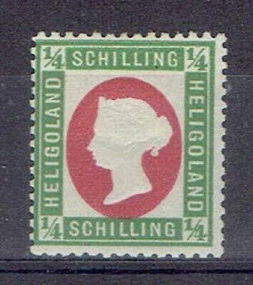 Germany Heligoland, British Terr. Period, MLH 1/4 Sch. Embossed Stamp, Lot No. 7