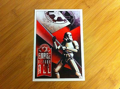 Empire Before All sticker decal Star Wars Stormtrooper propaganda poster style