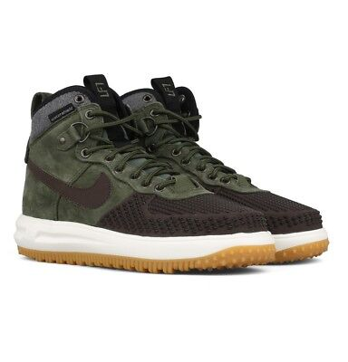 Nike Lunar Force 1 Duckboot Baroque Brown/Army-Olive-Black 805899 200 Size 8.5