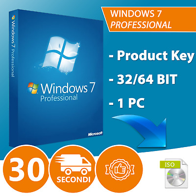 Windows 7 Professional Pro 32/64 Bit Licenza Esd Key Chiave Originale Microsoft