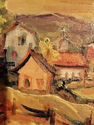 Just reduced, 'Laurentian Village',Listed Cdn Artist Sam Borenstein(1908-1969)