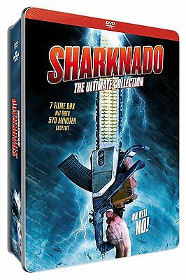 Metal Box Sharknado 1 2 3 4+ Shark Horror Ultimate Collection DVD Box Steelbook