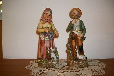 Vintage Home Interior Old Man And Woman #1417 Figurines