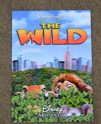 Disney Movie Club 3D Lenticular Card The Wild RARE collector's