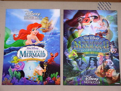 Disney Movie Club 3D Lenticular Cards Lot The Little Mermaid Trilogy I II III