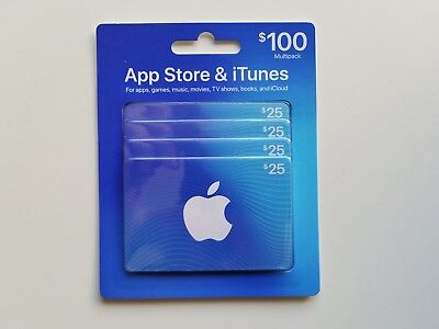 $100 Apple App Store and iTunes Gift Card