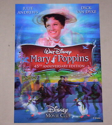 Disney Movie Club 3D Lenticular Card Mary Poppins RARE collector's