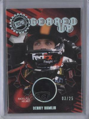 2011 Press Pass Geared Up Race-Used Holofoil #GU-DH Denny Hamlin Racing Card