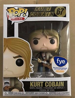 Funko Pop! Rocks Music Kurt Cobain #67 Tan Sweater FYE Exclusive