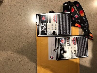 Two  2019 Chicago Cubs Convention Tckets