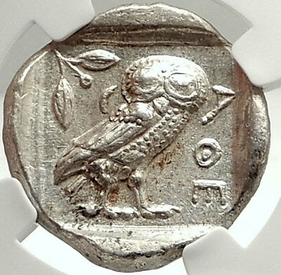 NEAR EAST or EGYPT Type of Athens Silver Greek TETRADRACHM Coin OWL NGC i74776