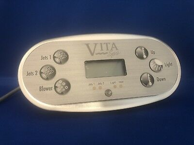 Vita Spa By Maax Spas Tp600 Topside With Overlay 6 Buttons (Jet 1-2-Blower)Us/ce