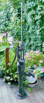 Antique F&W HOOSIER CAST IRON WATER PUMP Vintage Hand Operated   Windmill  Well