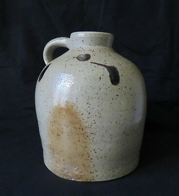 Turkey Droppings Salt Glazed Jug Orange Peal Top