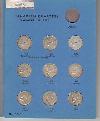 17Canada silverquarters 1953 to 1968 Complete in Whitman folder