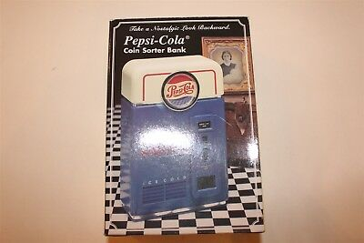 Pepsi Cola Coin Sorter Bank Collectible in Original Box