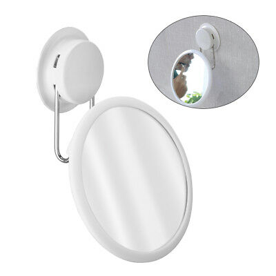 Wall Suction Mirror Shower Shaving Bathroom Strong Travel Cosmetic Makeup Bath