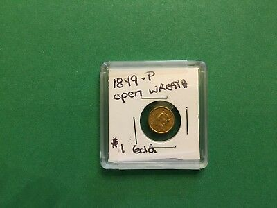 1849-P Gold $1 Open Wreath Coin *FREE SHIPPING*