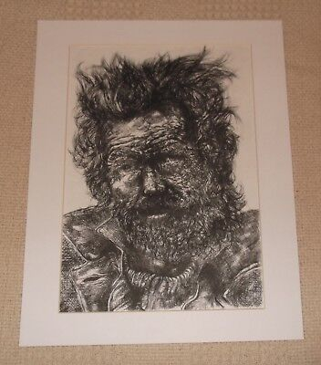 Original Dry Point Etching , ltd Edition 5 / 20. Fine Art Print Old Man Picture