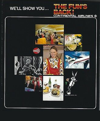1970's Continental Airlines The Fun Is Back Booklet 8 pages DC-10