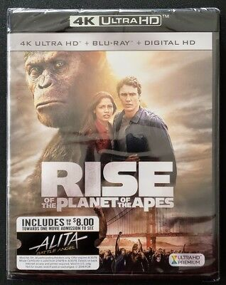 Rise of the Planet of the Apes 4K UHD and Blu-ray 2-Disc Set,✔☆MINT☆✔☆NO DIGITAL