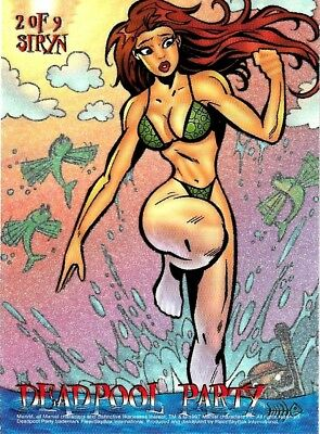 SIRYN 2 of 9 - 1997 DEADPOOL PARTY Chase Card   X-Men 97 Timelines