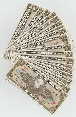 20 Brazil 5 Cruzeiros  Notes Sequential Numbers UNC