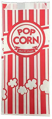 URPARTY Paper Popcorn Bags, 2 oz, Red & White, 100 Piece