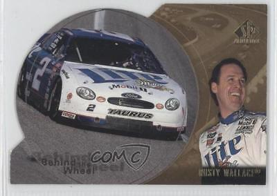 1998 SP Authentic Behind the Wheel Gold Die-Cut #BW8 Rusty Wallace Racing Card