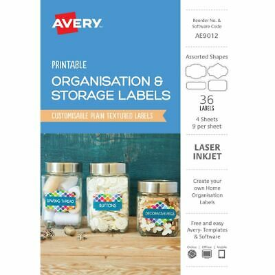 Avery Assorted Organisational Labels White 36 Pack