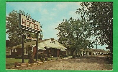 Inkster, Mi/ Rancho Motel/ office/ small building/ chrome postcard