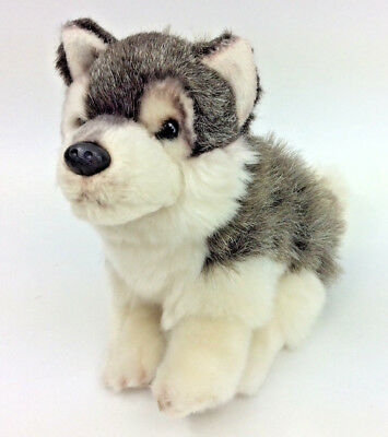 Nat Jules Husky Dog Grey White Wolf Realistic Plush Stuffed Animal