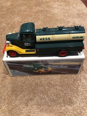1985 First Hess Truck Toy Bank - Red Switch- w/Original Box No Insert