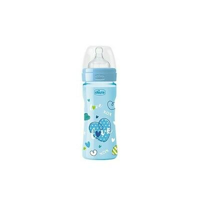 CHICCO Baby Bottle WB Love 250 ml Silicone 2m+ Assorted Colors