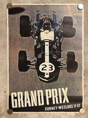 1967 Dan Gurney Eagle Formula 1 Poster, Good Condition - RARE!! Awesome L@@K