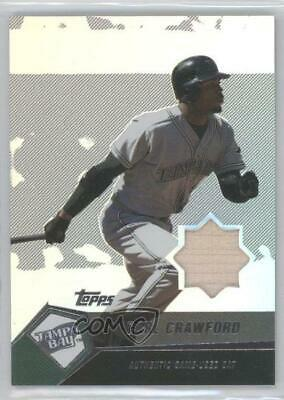 2004 Topps Autographed Baseball Card Contract Carl Crawford Rays