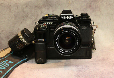 Minolta X-700 with Zoom Lens and Auto Winder