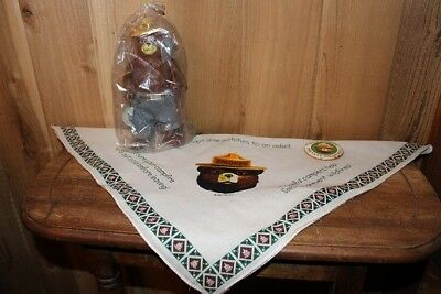 Vintage Dankin Smokey the Bear Figure with Scarf and Pin