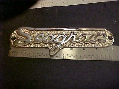 Seagrave Apparatus Name Plate Post War  Style