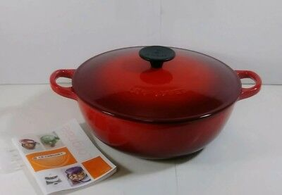 Le Creuset 3.5 Quart (3-1/2 Qt.) Cherry Red Cast Iron Chefs Oven with Lid