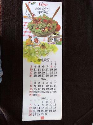 1977 Coke Calendar 8.25  X 25 Inches  (top