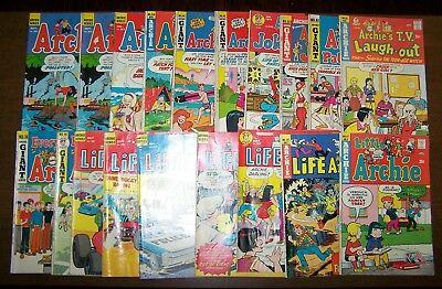 Lot of 19 ARCHIE COMICS Bronze Age Early 1970s MID GRADE Archie Comics