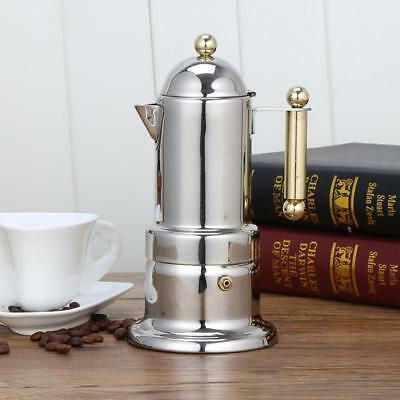 Stainless Steel 4 Cup Percolator Stove Top Coffee Maker Moka Espresso Latte Pot