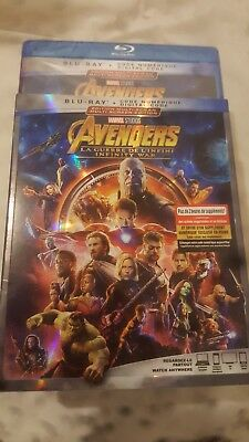 Avengers: Infinity War ( Blu-ray/Digital ) with Slipcover  **NEW SEALED**