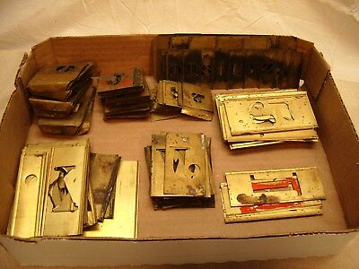 Antique/vintage Brass Stencil Letters And Numbers~Various Sizes~Used